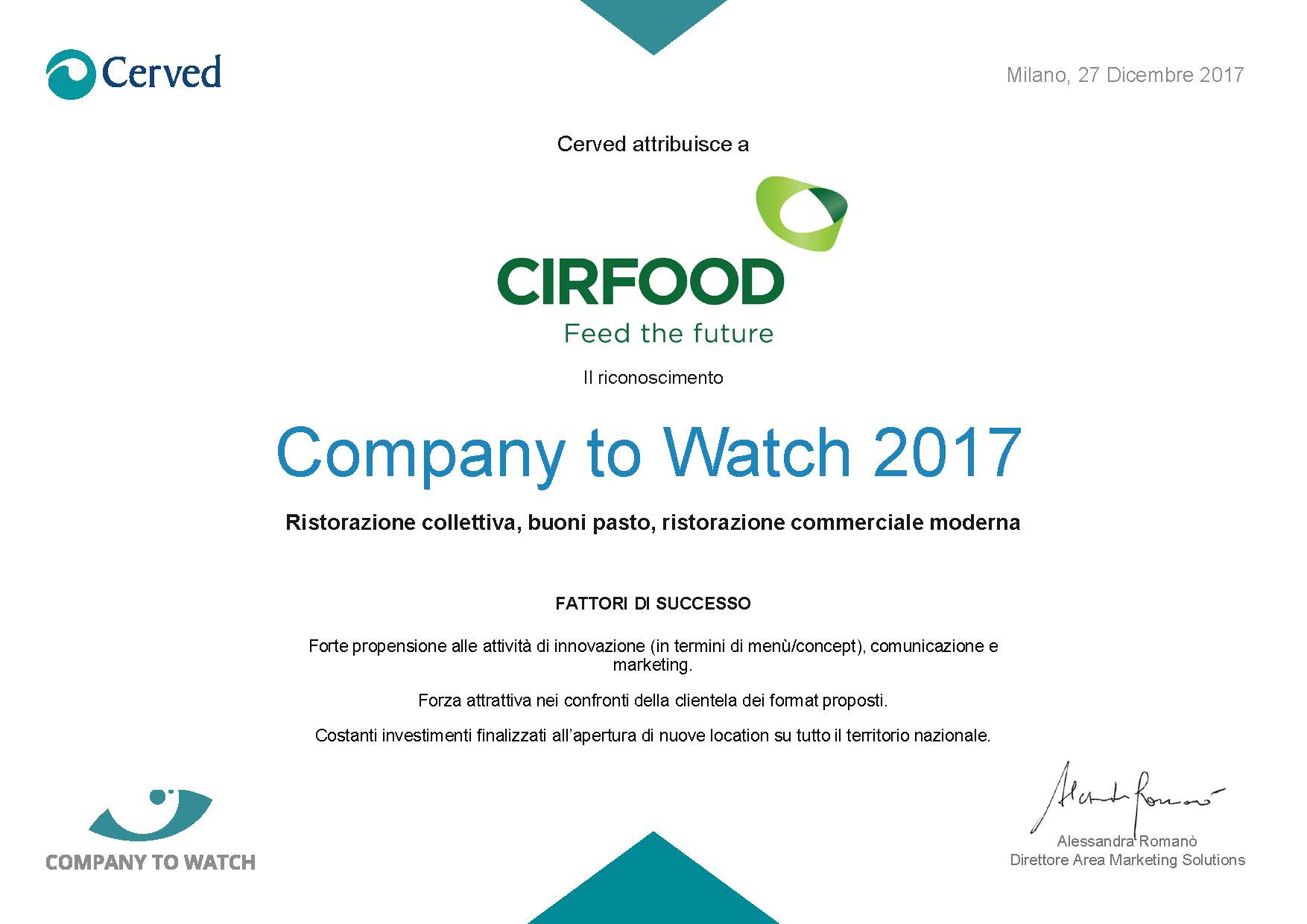 company to watch 2017 cerved cirfood